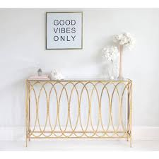 slim gold console table  metal gold console table