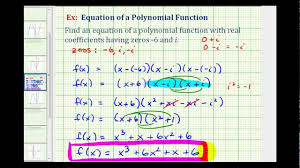ex 3 find a degree 3 polynomial function given imaginary zeros you