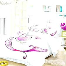 little mermaid bedding sets mermaid bedding set home textile mermaid bedding set white burdy fish duvet little mermaid bedding sets