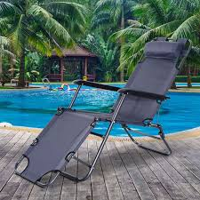 outsunny folding lounge chair chaise