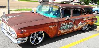 1960 Chevrolet Kingswood Wagon Pigeon Forge Rod Run - YouTube
