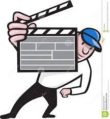 Cartoon Film Director With Movie Clapboard Cartoon Stock Vector Image 25683399