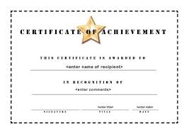 Free Word Template Certificate Of Achievement Archives On