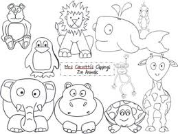 zoo sign clip art black and white. Simple Art Zoo Animal Black And White Clippings In Sign Clip Art And
