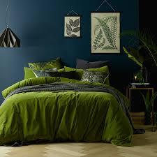 mossy road cotton velvet quilt cover set