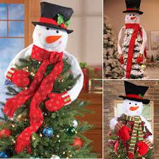 image is loading christmas tree top topper cover snowman hat xmas
