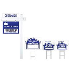 Make A For Sale Sign Deluxe Customized For Sale By Owner 7 Sign Bundle With Real Estate Post H Stakes Open House And Home For Sale With Directional Arrows