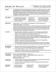 Resume Military To Civilian Great Example Transitioning Military