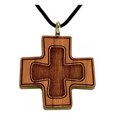 cherry wood greek cross stepping