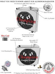 toyota fj40 land cruiser radiator aluminum 4 row champion click thumbnails to enlarge