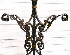 Wrought Iron Coat Rack Stand Antique Blacksmith Made Wrought Iron Coat Rack w Claw Feet Cast 72