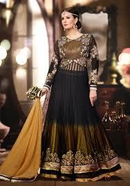 Designer Anarkali Suits Uk Black Designer Anarkali Dress