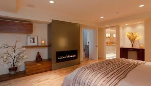 master suite build-out of garage, master buildroom with fireplace  contemporary-bedroom