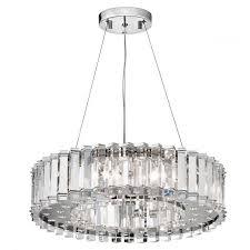 kichler crystal skye modern chrome 8 light round crystal chandelier