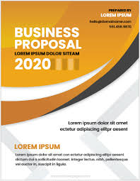 Professional Business Proposals Business Proposal Cover Page Templates Word Ms Word