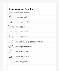Proofreading Marks 101 What Do These Squiggles Mean