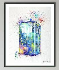 dr who wall art best wall fresh original watercolor doctor who wall art canvas painting and