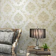 european luxury modern wallpapers non woven mural wall papers roll golden beige living room sofa tv background 10m 3d wall paper pc wallpaper in hd pc