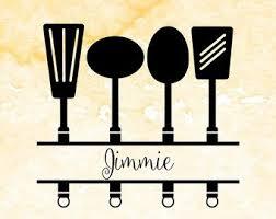 kitchen utensils split silhouette. Delighful Split Split Kitchen Utensils SVG Cutting File Monogram Svg Pdf Eps Files  For Using In Silhouette Cricut Kitchen Svg File Throughout Silhouette