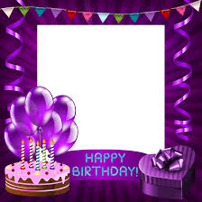 Happy Birthday Purple Transparent Png Frame Gallery Yopriceville
