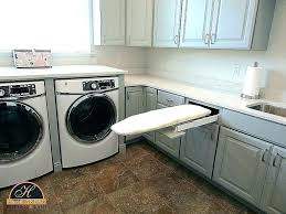 laundry room over washer dryer cottage countertop build for and installing he carpentry sink ideas