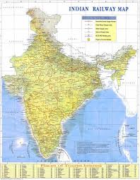 indian railway map india mappery