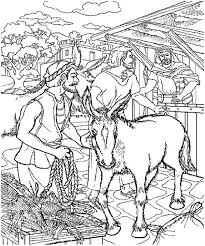 Small Picture The Donkey that Jesus Rode on Palm Sunday Coloring Page Color Luna