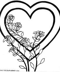 roses coloring page picture