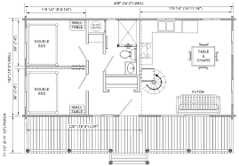 cabin floor plans. Floor Plans For Cabins | 16\u0027x34\u0027 With Loft Plus 6\u0027x34\u0027 Cabin