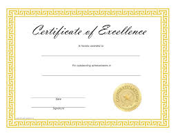 Certificates Of Excellence Templates Free Certificate Of Excellence Template My Future Template 1