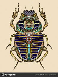 символы древнего египта золотой скарабей цвета татуировки