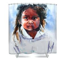 little girl shower curtains natural black girl shower curtain