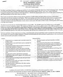 Football Coach Resume Example Best Of Head Coach Cover Letter