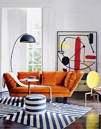 Orange Sofa Living Room Introduce A Little 1960s Glamour The Room Edit