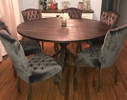 rustic round kitchen table. Rustic Round Table, Pedestal Base Kitchen Dining Table