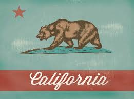 vintage california canvas print