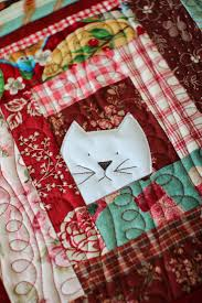 Best 25+ Cat quilt patterns ideas on Pinterest | Cat quilt ... & Like this idea for a quilt. An animal/monster peeking out from the center  of each square. Cat potholder by Laurraine Yuyama Adamdwight.com