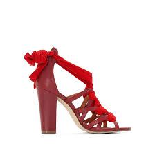 <b>Босоножки кожаные</b> красный/ кирпичный <b>La Redoute</b> Collections ...