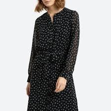 <b>Платье</b>-рубашка длинное с цветочным рисунком цветочный ...