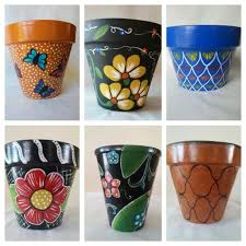 clay pot hand painted pot painted flower pot yellow flower pot hand painted clay pot patio decor fl clay pot hand painted pottery