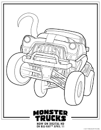 Small Picture Monster Trucks Printable Coloring Pages All for the Boys