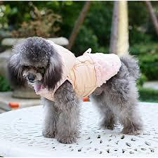 Psi Kočky Kabáty Oblečení Pro Psy Jednobarevné Jednoduchý Mašle
