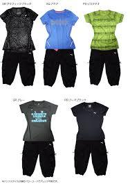 puma 2 piece set womens. walking clothing women\u0027s set point 2 (short sleeve t shirt + 3 / 4 pants puma piece womens e