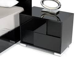 Modern Black Bedroom Sets Modrest Ancona Italian Modern Black Bedroom Set Modrest Made In
