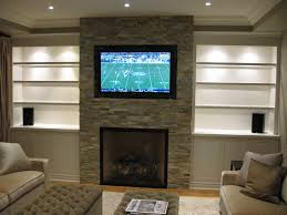 image of contemporary fireplace designs with tv above