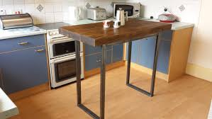 rustic breakfast bar table kitchen island butcher block small country ideas wine cooler direct white dining room sheets storage cabinet microwave cupboards