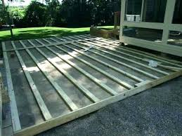 build a deck over concrete deck over concrete patio design life in rehab guest blogger how build a deck over concrete