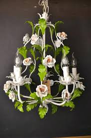 antique french tole chandeliers fabulous tole flower chandelier with porcelain roses vintage french tole chandelier