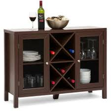 King S Brand Wr1241 Wood Wine Rack Console Sideboard Table With
