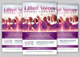 benefit flyer templates modern gospel concert church flyer template inspiks market